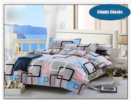 Wholesale Checked Bedding Sets - Luxury Checks Bedding Set Duvet Cover Set include One Bed Sheet One Quilt cover Two pillowcase