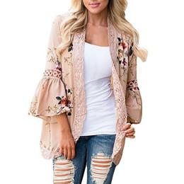 9253bd87fad Chiffon Shirt Floral Lace Blouse Women Summer Loose Hollow Printing Shirt  Plus Size 2XL Women Beach Casual Clothing LDW744