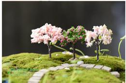 Mini albero di natale diy online-Fairy Garden Accessorie Mini Tree Plant Junly Moss Gnome Miniature Christmas Tree Creativo Bella decorazione della casa fai da te accessori di Natale
