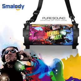 мощные динамики Скидка Smalody Bluetooth 4.2 Динамик Портативный Открытый Беспроводной Мощные Колонки Музыкальная Колонка С Ремешком для переноски Слот USB TF Карта AUX
