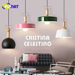 Wholesale Head Lamp Shop - FUMAT Single Head Nordic Restaurant Solid Wood Chandelier Creative Bar Lamp Personality Coffee Shop Lamp Livingroom Lamp Free Shipping
