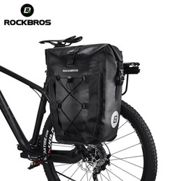Велосипедные багажные сумки онлайн-ROCKBROS Waterproof Bike Bag 20L Travel Cycling Bicycle Bag Rear Rack Tail Seat Trunk Bags Pannier MTB Mountain Bike Accessories
