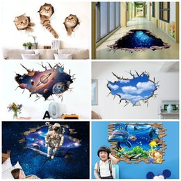 Wholesale green day wall stickers - Self Adhesive PVC Paster Waterproof Anti Slip 3D Wall Stickers Removable Eco Friendly Sticker Hot Sale 5 6pc B