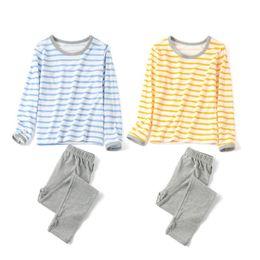 Wholesale Children Sleepwear Nightwear Pyjamas - Children Clothes Kids Clothing Set Boys Pajamas Sets Cotton Nightwear Striped Pajamas Girls Sleepwear Baby Pyjama