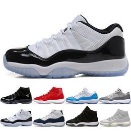 59c588ef78f 11 11s Cap and Gown Prom Night Men Basketball Shoes Platinum Tint Gym Red  Bred PRM Heiress Barons Concord 45 Gamma Blue mens sports sneakers