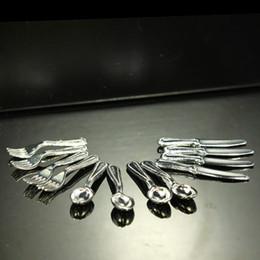 Wholesale Toy Kitchen Utensils Wholesale - 1:12 Dollhouse Miniature Metal Kitchen Utensils Tableware Spoon Knife Fork Set Play Kitchen Accessories Toy