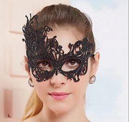 2019 maschera di sesso mezzo viso Maschera mezza del merletto del tessuto delle donne del merletto delle donne del tessuto del partito di ballo del partito delle maschere misteriose di retro maschera di travestimento del costume Maschera mezza del fronte DHL libero maschera di sesso mezzo viso economici