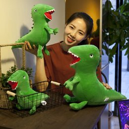 Wholesale dinosaur plush - 20cm 8 inches Green Dinosaur plush Doll toys 2018 new cartoon Stuffed Animals Dolls Kids Toy Novelty Items AAA486