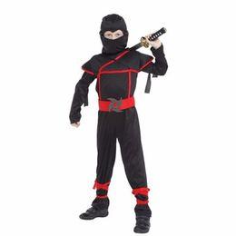 Crianças Super bonito Menino Crianças preto ninja guerreiro trajes de Natal Dia de Ano Novo Purim festa de Halloween presente jogo de