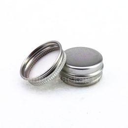 Canada 5g mini jar en aluminium crème échantillon étain 5cc cosmétique baume à lèvres récipient petit pot en métal, bouteilles en aluminium en gros supplier aluminum sample bottles wholesale Offre
