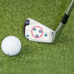Etichette dolci online-2018 Golf Club Target Label Etichette di impatto Adesivo di destinazione Driver di nastro Ferro Sweet Dot Carta di prova Accessori da golf