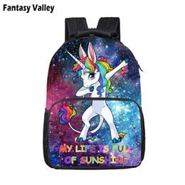 sacchetti per i ragazzi Sconti Carino Galaxy Dab Unicorn Backpack For Teenager Ragazzi Ragazze Sacchetti di scuola per bambini Bambini Cartone animato zaino Book Bag Schoolbags regalo