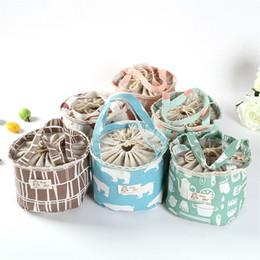 Sacchetti per animali online-Creatività portatile orso fenicottero isolato disegno stringa sacchetto del pranzo animale del fumetto pic-nic sacchetto del sacchetto cibo termico lunch box bag WX9-413