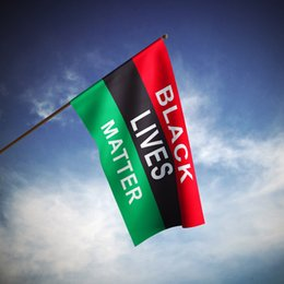 Wholesale popular live - Black Lives Matter Flag 90x150cm 100D Polyester Fabric Posters 3x5ft Popular Human Equality Rights Home Decoration Banners