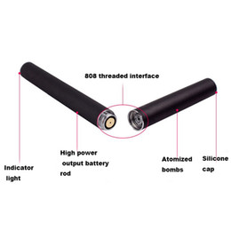 Wholesale Fast Safe - electronic cigarette recharging male smoke 808D vape battery capacity 180mah 210mah 280mah charge fast safe instock Hot Sale