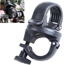 supporto estensione clip Sconti 360 gradi di rotazione della bicicletta manubrio montaggio a LED torcia elettrica torcia di montaggio morsetto supporto clip staffa colorata