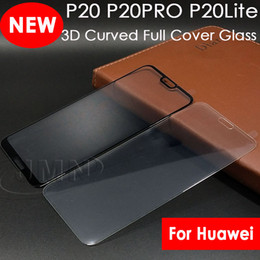 Wholesale Huawei Phone Covers - 3D Curved Tempered Glass For huawei P9 Plus P10lite P20 lite Pro P20LITE P20PRO Curved Tempered Glass Phone screen protector film full cover