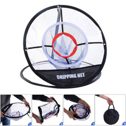 Wholesale indoor golf training - Golf practice net Indoor Outdoor Chipping Pitching Cages Mats Golf Training Aids Metal + Net