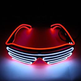 Canada Cyclisme de fête LED Lunettes Paralume en plastique en forme de lunettes de lumière froide Lunettes d'équitation de nuit sans batterie Contrôle de la voix Standard cheap standard eyewear Offre