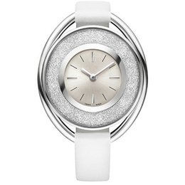 2019 señoras relojes cristales 2018 popular Casual Rolling cristal Dial mujeres reloj negro blanco rojo reloj de pulsera de cuero dama relojes famosa marca vestido reloj envío gratis rebajas señoras relojes cristales