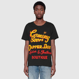 223628e1d3db89 Luxury 2019 Europe Italy design Slim-Fit Printed Cotton T-Shirt logo print  men women printed jersey T-shirt tee