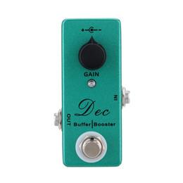 Pédale d'effet de rappel en Ligne-Pédale de guitare Dec Buffer Booster Effet de guitare électrique Mini effet unique avec Clean Boost True Bypass livraison gratuite