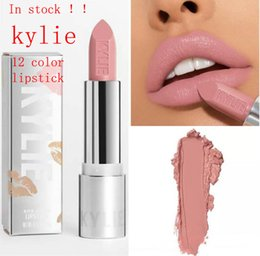 Wholesale Wholesale Cosmetic Pigments - In stock!New Kylie Jenner Cosmetic Silver Swipe Pigment 12 Colors Lipstick for 2018 new years and 2018 Valentine's Day
