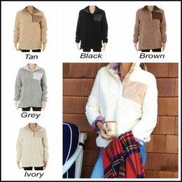 Wholesale Patchwork Plush - 5 Colors Sherpa Pullover Women Winter Fall Fleece Hoodies Sweatshirt Oversized Jacket Plush Sweatshirts CCA8429 10pcs