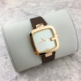 Wholesale Nude Ship Girls - Famous Brand Women watches Square Dial Face Colorful Lady Wristwatch Female Clock Genuine Leather Free shipping High Quality Gift for girls