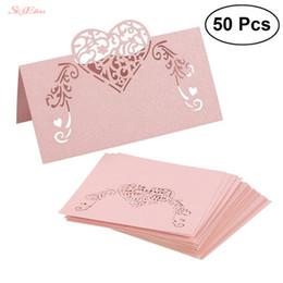 Números de corte a laser on-line-100 Pcs Corte A Laser Oco Forma Cartão de Assento Do Vintage Número da Mesa Nome Cartão de Nome de Casamento Cartões de Festa de Casamento Decoração 7Z-SH928