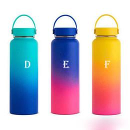бутылки с водой зеленого цвета Скидка Термос с изоляцией Бутылка для воды Большой емкости 18 унций, 32 унции, 40 унций, стаканы из нержавеющей стали. Автомобильный кубок. Розовое золото / розовая / красная колба.