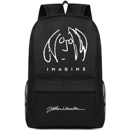 dc555fe03431 Discount music backpacks - The Beatles backpack John Lennon day pack Rock  band school bag Music