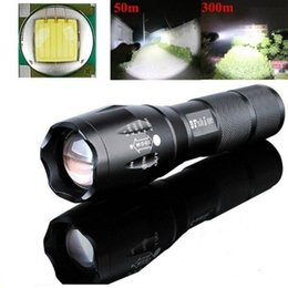 Wholesale Led Rechargeable Flashlight Torch - Super Bright 4000 Lumen LED Tactical Flashlight XML T6 LED Flashlights Portable Outdoor Water Resistant Torch Light Zoomable Flashlight wit