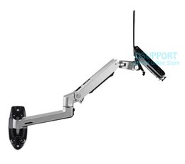 Wholesale Mechanical Arm - Aluminum Alloy Mechanical Spring Arm Wall Mount Laptop Holder Full Motion Laptop Mount Arm Monitor Holder  Stand 2 in 1