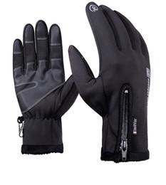 Im Freien wasserdichte Handschuhe Winter Touchscreens Windschutz volle Reißverschlüsse warme Sport Fleece Bergsteigen und Skifahren Handschuh 003 von Fabrikanten