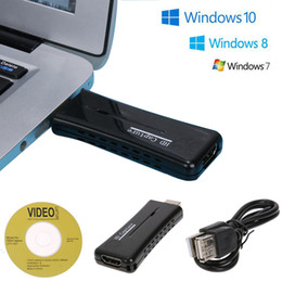 Wholesale Usb Hdmi Monitor - USB 2.0 HDMI Video Capture Card for PC Mini Portable HD 60fps Monitor Video Capture Quick Installation with 32MB memory