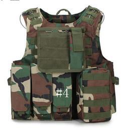 Argentina Chaleco táctico Wargame Body Molle Armor Chaleco de caza Equipo de Selva al aire libre impermeable Camuflaje CS Chaleco LJJD18 Suministro