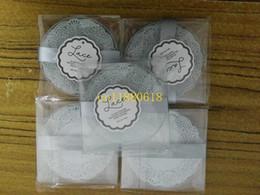 Wholesale Wedding Souvenirs China - 200pcs lot(=100sets) Free Shipping Wedding Gift For Guests Glass Coasters Cup pad mat Wedding Souvenir China Idea