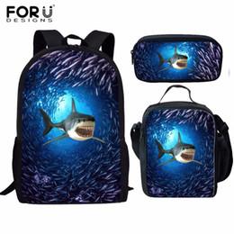 2c56cca4a8 FORUDESIGNS Children School Bags set for Girls Boys Shark Dolphins  Schoolbag kids Primary school Backpack Kids Satchel
