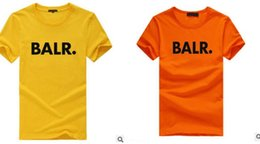 Wholesale Fashion Clothing Summer Youth - 2017 new summer brand BALR clothing O-neck youth men's T-shirt printing Hip Hop t-shirt 100% cotton fashion men T-shirts