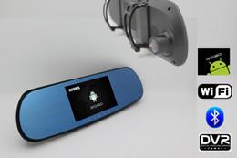 Nuevo 5 pulgadas Android Espejo retrovisor del coche de navegación GPS de visión trasera Full HD 1080P coche dvrs Daul cámara video grabador vehículo gps desde fabricantes