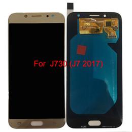 2019 оптовые телефоны для повышения J730 супер AMOLED ЖК-дисплей - тестирование ЖК-экран + сенсорный экран для SAMSUNG GALAXYJ730 J7 2017 экран