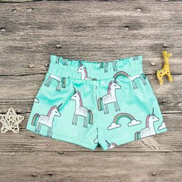 Wholesale Cheap Clothing Boy Girl - Baby Boy Clothing Unicorn Shorts Cheap Summer Clothing for Girl Pants Cotton Cute Baby Clothing 4pcs lot Wholesale