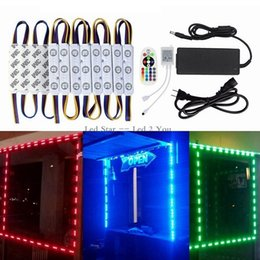 Wholesale Advertising Lighted Sign - 10ft 20pcs RGB Led Modules Lights 5630 Advertising Light IP65 Waterproof Led Sign Backlights + Remote Control + Drivers