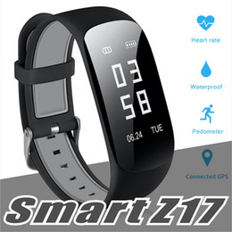 Pulseira gps para crianças on-line-Z17 hr fitness rastreador inteligente pulseira pulseira monitor de freqüência cardíaca monitor de sono pedômetro gps à prova d 'água de fitness relógio para iphone samsung