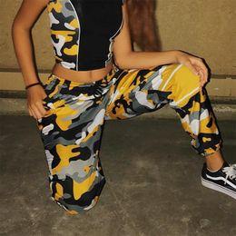 Wholesale Harem Pants Woman Camouflage - High Streetwear Workout Deporte Drawstring Camouflage Harem Pant Kpop Ulzzang Hiphop Skateboard Panelled Cargo Trouser Sweatpant