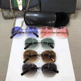 e2be250a831 Best Selling New Sunglasses For Womens Frameless Cut Sunglasses Hot Sale Brand  Design UV400 With Best Case Box Anti-UV multiple colour