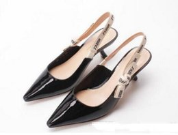 Wholesale Sewing Letters - Summer 2018 fashion comma heel Slingback pump Bow Letter Bandage High Heel Shoes woman Runway Pointed Toe Gladiaor Sandals