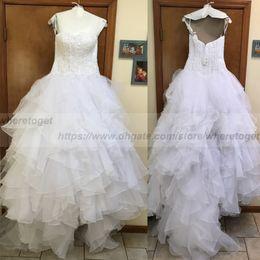 Wholesale Sweetheart Wedding Dress Tulles - Gorgeous 2018 Arabic ball gown wedding dresses sweetheart vintage lace 3D appliuqes country ruffles tulles bridal gowns vestidos de novia