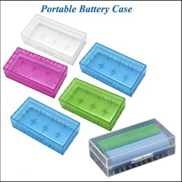 Wholesale Portable Battery Storage - Portable 18650 Battery Case Storage Acrylic Box plastic battery storage container pack 2*18650,4*18350 or 4*16340 Safety Holder